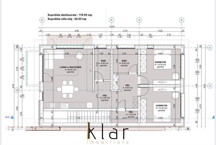 Apartament  trei camere in vila cu doua apartamente si teren