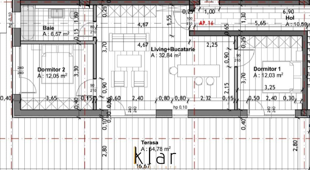 Apartamente trei camere bloc nou Grigorescu cu terasa de 55mp