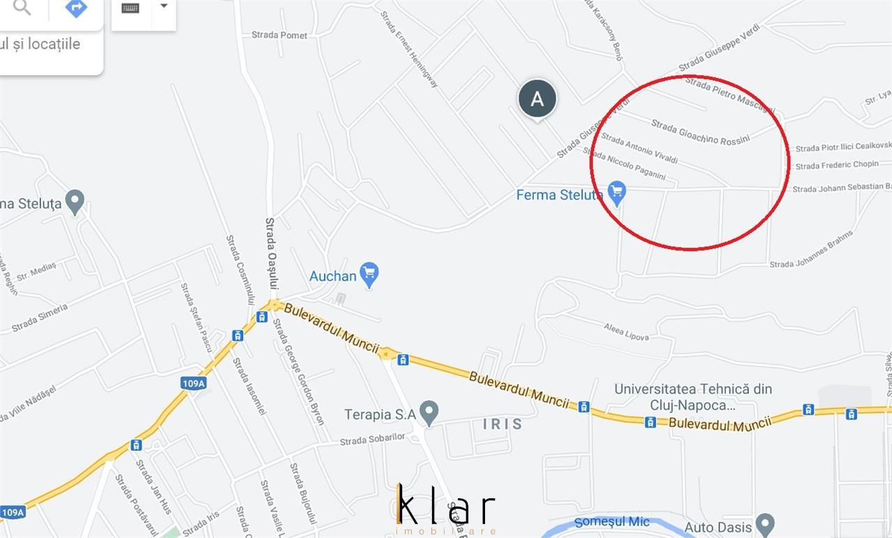 Teren intravilan de vanzare pe Valea Fanatelor (cartier Iris)