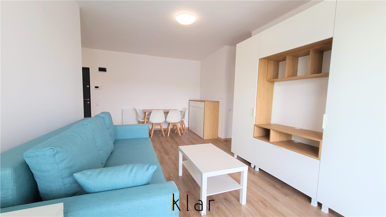 Inchiriere 2 camere (49,92mp), bloc nou in Buna Ziua, garaj inclus