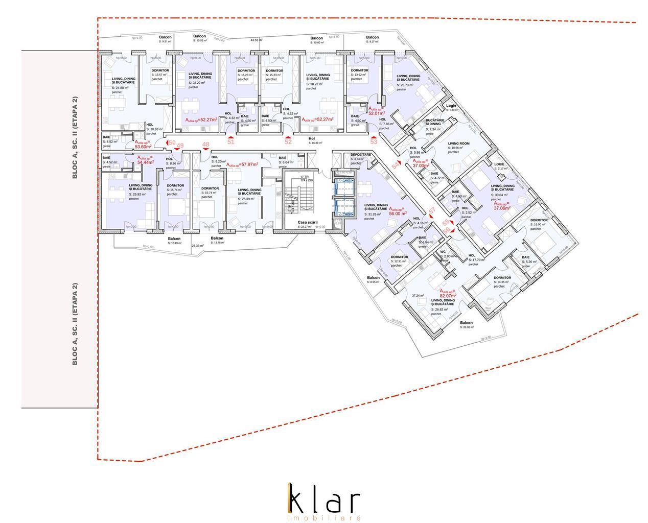 Apartamente 2 Camere in Complex Rezidential  Zona Iullius