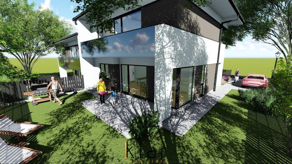 Casa de tip duplex curte individuala