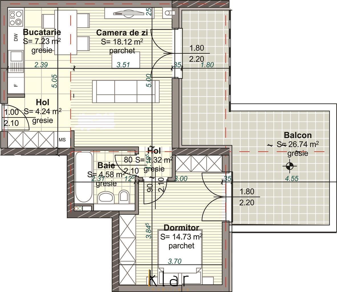 Vanzare apartament cu 2 camere la 5 minute de Piata Mihai Viteazu