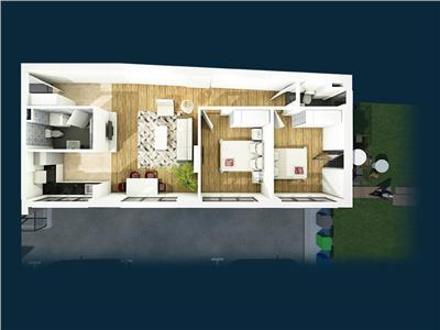 De vanzare apartament 3 camere, zona centrala, bloc nou