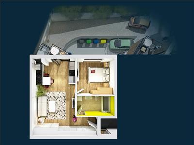 De vanzare apartament 2 camere ultracentral, bloc nou