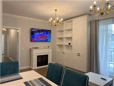 Apartament 3 camere Ultrafinisat si mobilat la cheie bloc Nou