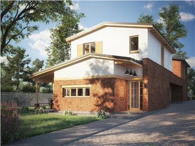 Casa unifamiliala pe o strada cu acces privat