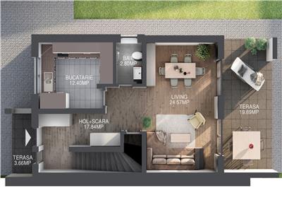Duplex 120mp zona Sub Coasta !!!