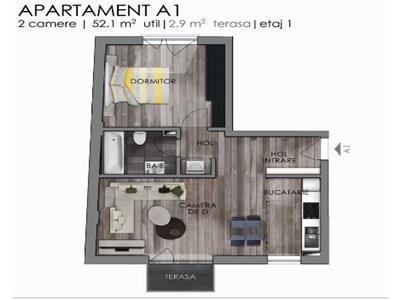 Apartament 2 camere semifinisat, Semicentral!