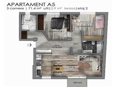 Apartament 3 camere, Semicentral!
