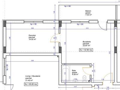 Apartament 2 camere semifinisat parcare zona Teilor