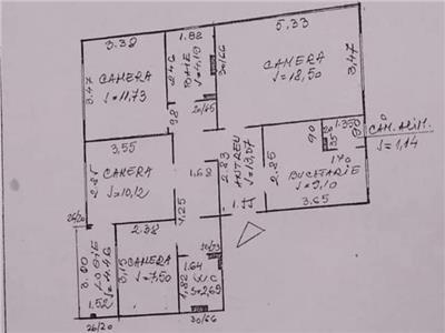 Apartament cu 4 camere, 78mp, decomandat, Manastur, Napolcat!