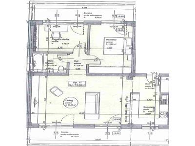 Comision 0%. Apartament semifinisat, 3 camere, zona Stejarului