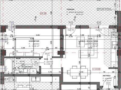 Apartament de vanzare cu terasa de 27 mp, bloc nou cu lift zona Fagului!
