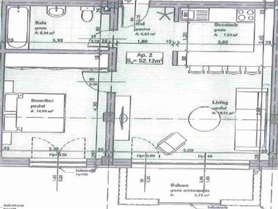 Apartament de vanzare 2 camere decomandat zona Stejarului!