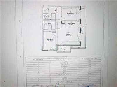 Vanzare apartament 3 camere  zona Kaufland bloc nou  cu Cf