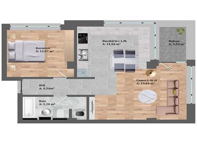 Vanzare apartament 2 camere zona Petrom ,Calea Baciului!